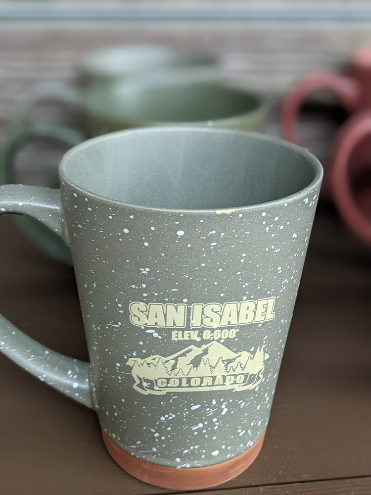 San Isabel Lake Colorado - Coffee Cup Gray