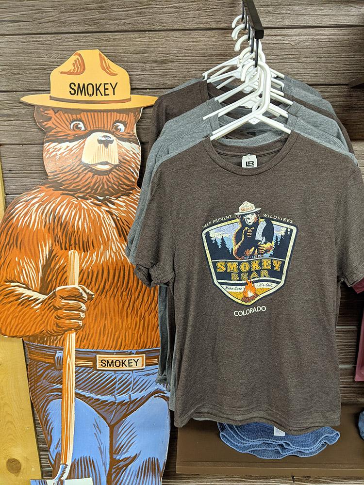 San Isabel Lake Colorado - Smokey Bear Shirt Gray