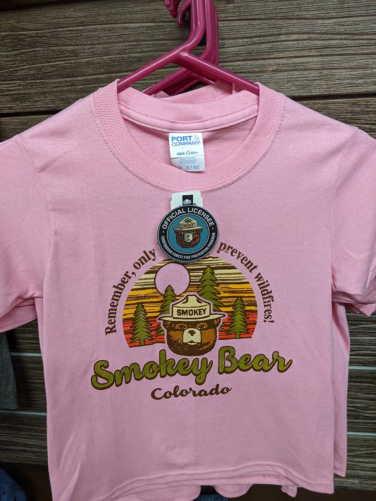 San Isabel Lake Colorado - Smokey Bear Shirt Pink